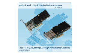 2-port Low Latency Low Profile 1/10GbE UWire Adapter with PCI-E x8 Gen 3, 32K conn. Direct Attach